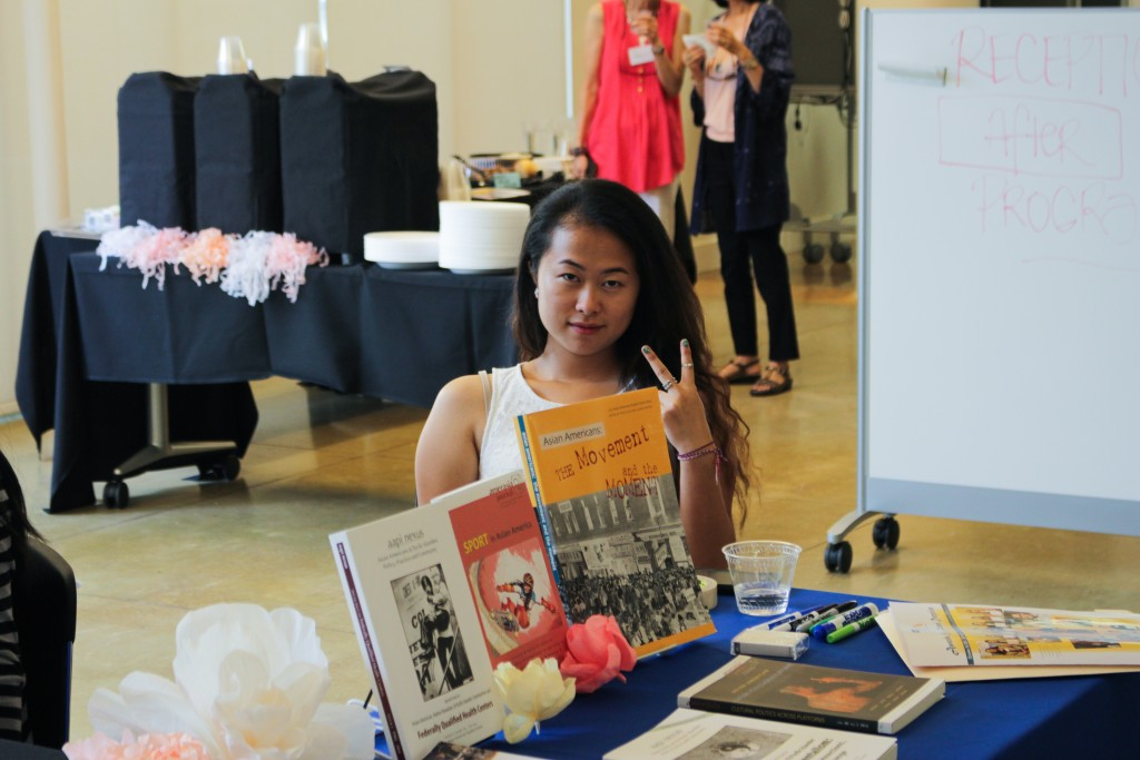 Student Der Xiong attends the Asian American Studies Center Awards Reception.
