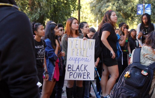 Students of color support Black Power. Photo by Karin Chan.
