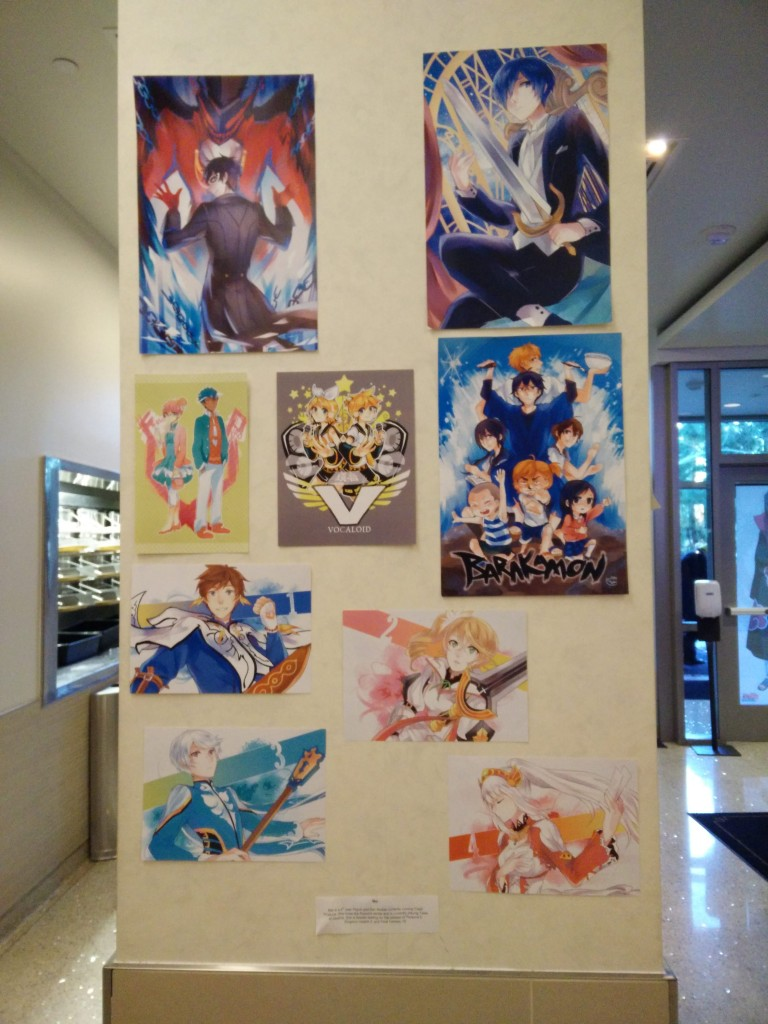 Anime themed works of art by Fresh Produce members.