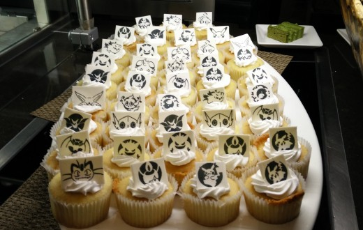 Feast featured Pokémon themed cupcakes at the third Anime Dinner.