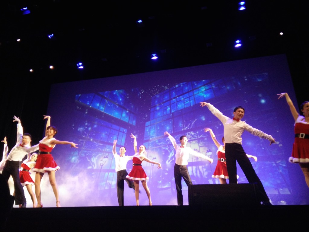 "UCLA Chinese Student Ballroom Dance Team performs ""Christmas Fantasy"""