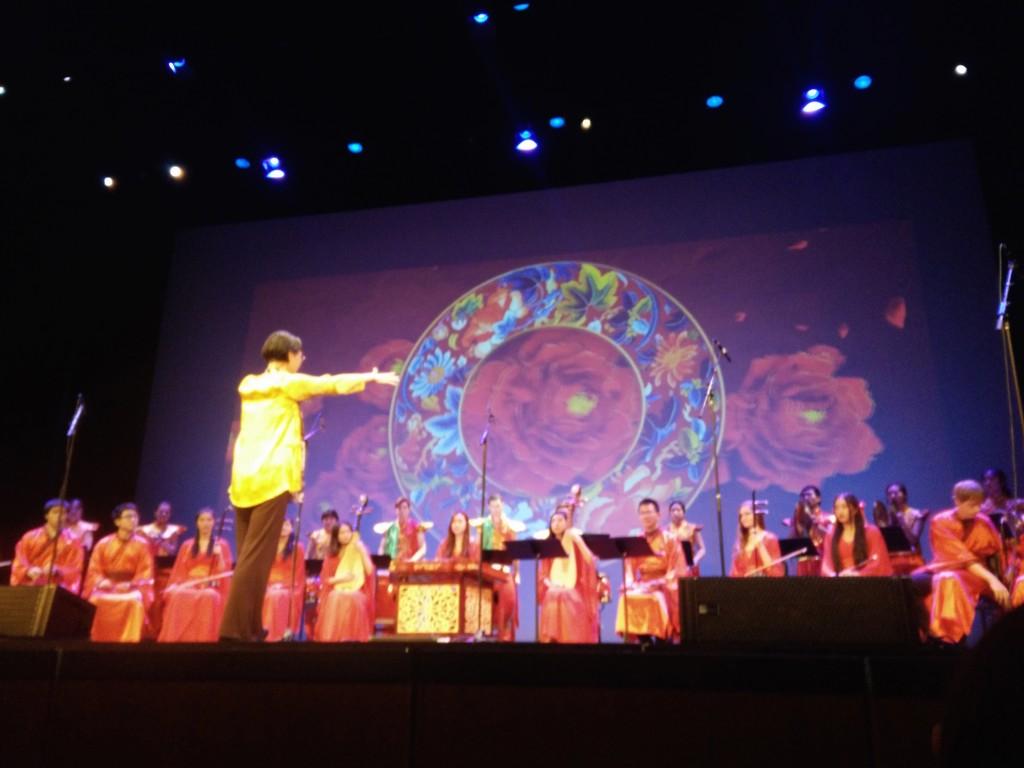UCLA Ethnomusicology professor Chi Li leads the UCLA Modern Chinese Orchestra
