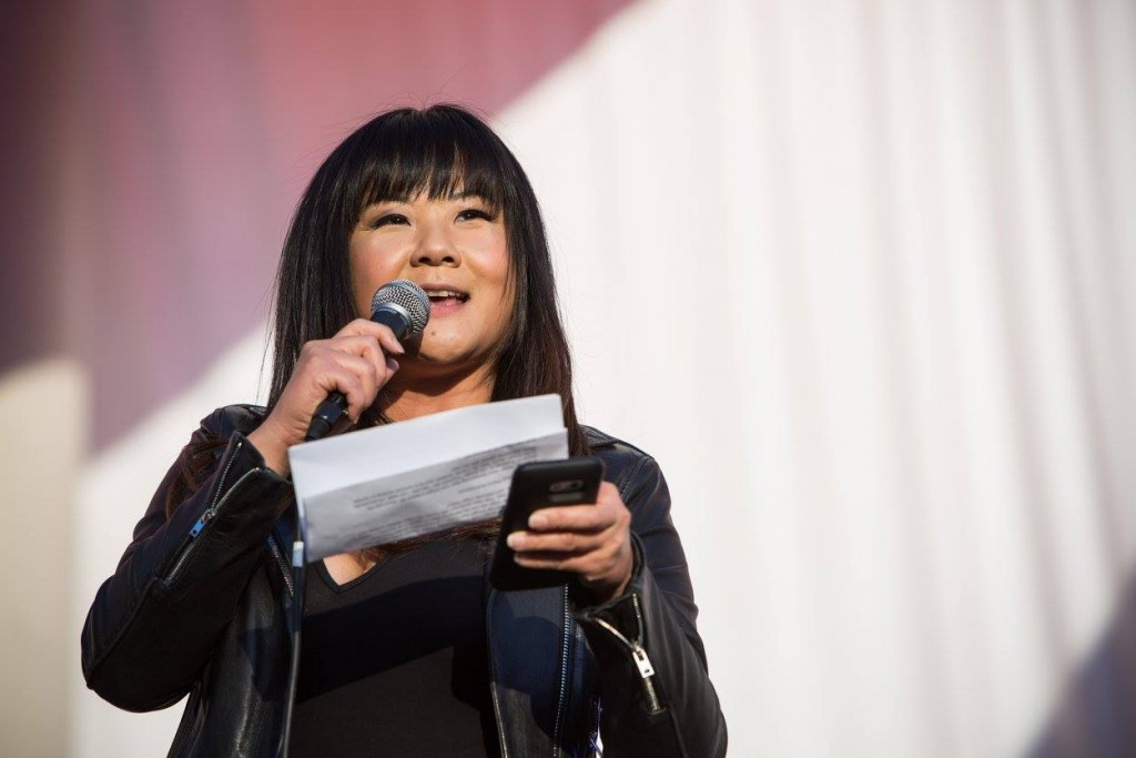 "Comedian Jenny Yang MC'd the event and nicknamed it the ""Asian Coachella."" Photo courtesy of Councilmember Ryu's Facebook page"