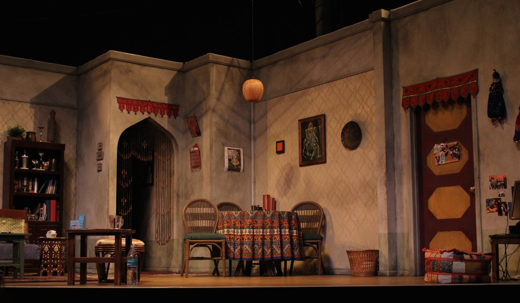 The play takes place inside of the family's living room. Set photo by Katrina Galian.